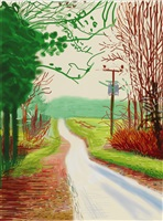 the arrival of spring in woldgate, east yorkshire in 2011 (twenty eleven) - 23 february by david hockney