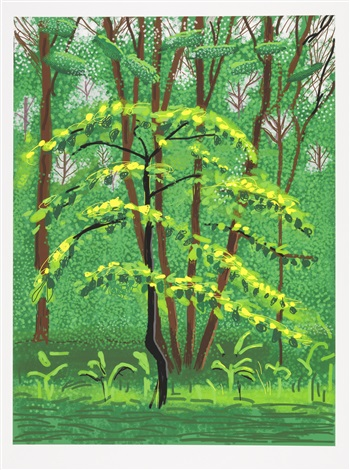 the arrival of spring in woldgate, east yorkshire in 2011 (twenty eleven) - 19 may by david hockney