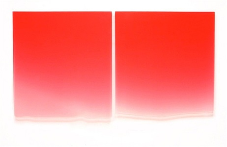 1/10-13/12 (large red diptych) by peter alexander
