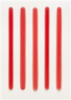 five part bars (red) by peter alexander
