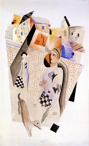composition two, circa 1925 by béla kádár