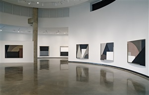 "installation of ""the aesthetics of precision, forty five years of painting"" at the katzen museum by timothy app"