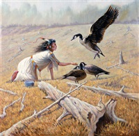 feeding the canadian geese by gregory perillo