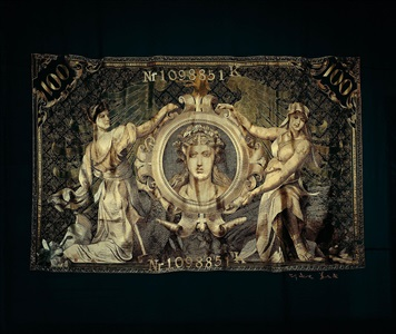1908 100 german mark note (goddess) by shao yinong and mu chen