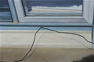 """untitled (window and grounding wire)"" by lillian bayley hoover"
