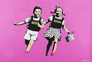 jack and jill pink ap by banksy