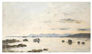 golfe juan l'escadre dans la baie by eugène boudin