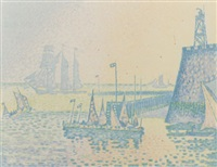 abend, pan iv i by paul signac