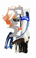 mask, from brushstroke figures series by roy lichtenstein