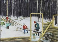 lot #11: the shaw cabin by william kurelek