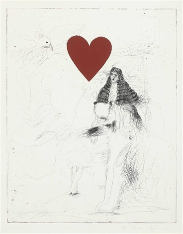 a girl and her dog i by jim dine