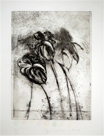 anthurium, from temple of flora by jim dine