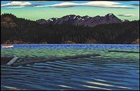 lot #38: looking south over sooke harbour by edward john hughes