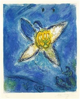 l'ange au chandelier (angel with candlestick), by marc chagall