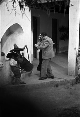 diego rivera y rosa covarrubias bailando, tizapan, mexico, 1941 by leo matiz