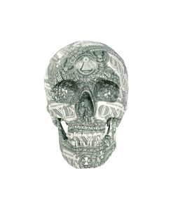 skull 'us-dollar' by kata legrady