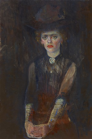 portrait of a lady by leo gestel