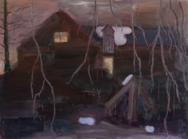 my studio on a winter night by per adolfsen