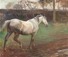 irish grey mare by sir alfred munnings