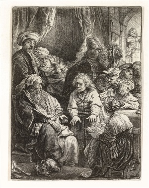 joseph telling his dreams by rembrandt van rijn