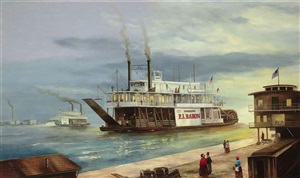 painting of the new orleans sternwheeler