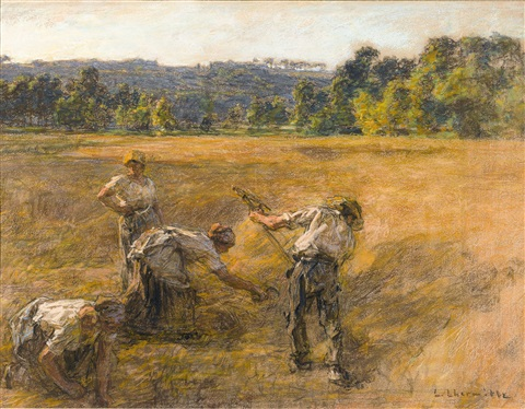 le moisson (the harvest) by léon augustin lhermitte
