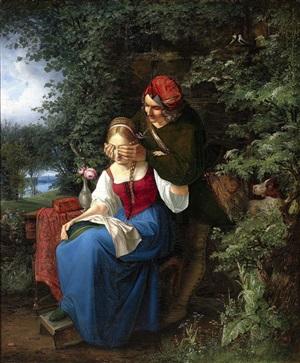 mystery suitor by johann friedrich august tischbein