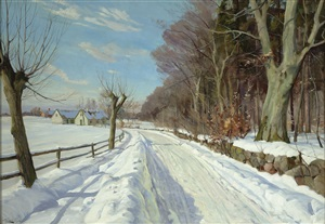 a village in winter by harald julius niels pryn