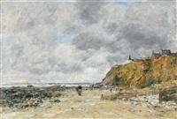 le rivage de villerville, maree basse (the shoreline of villerville, low tide) by eugène boudin