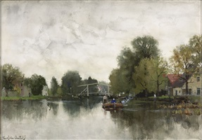 untitled landscape by fredericus jacobus van rossum du chattel