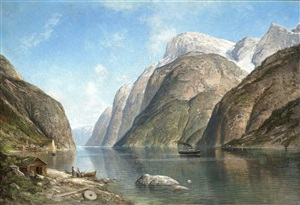 view of a fjord by adelsteen normann