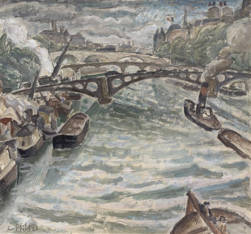 view at the seine by leo gestel