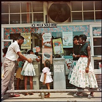 at segregated drinking fountain, mobile, alabama by gordon parks