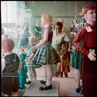 ondria tanner and her grandmother window-shopping, mobile, alabama by gordon parks