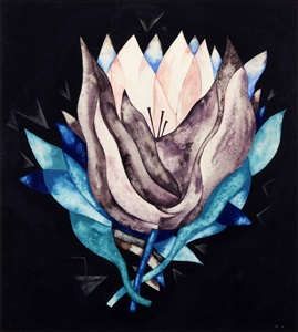 untitled – american modernist floral by herman trunk