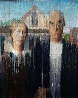 american gothic interpreted, impression by bradley hart
