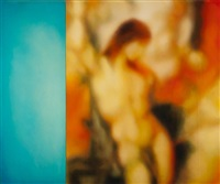 st. sebastien at l'ange (after moreau) (diptych) by jeff muhs