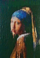 girl with a pearl earring interpreted, impression by bradley hart