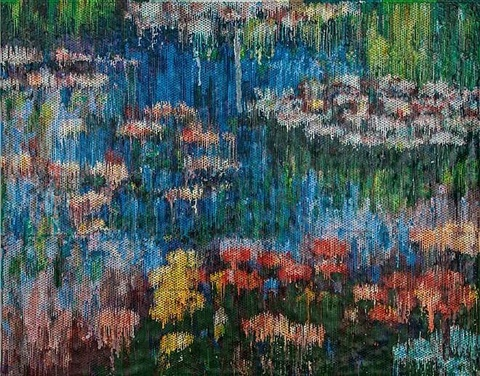 water lilies interpreted, impression by bradley hart
