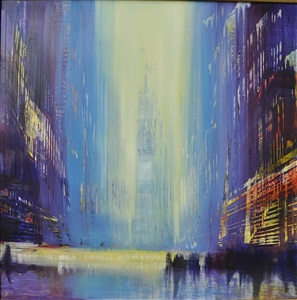 city, electric flash by david allen dunlop