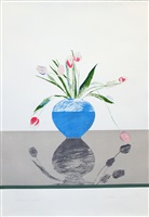 pretty tulips by david hockney