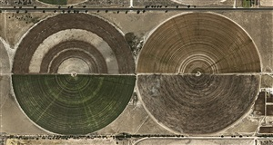 pivot irrigation #27, high plains, texas panhandle, usa by edward burtynsky