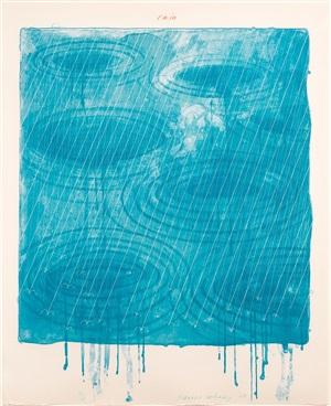 rain by david hockney