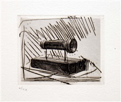 flashlight (small), from 1st etchings, 2nd state by jasper johns
