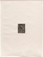 numbers (small), from 1st etchings, 2nd state by jasper johns