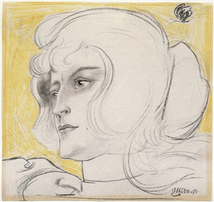 portrait of marguerite helfrich by jan toorop