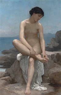 the bather by william adolphe bouguereau