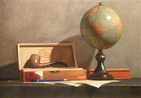 globe with pipe by todd m. casey