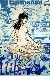 blue mermaid by faile