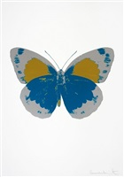 the souls ii - turquoise/silver gloss/oriental gold by damien hirst